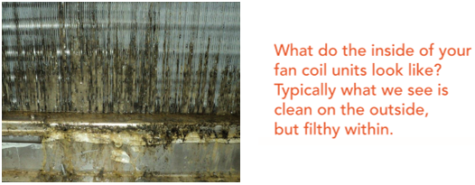 What do the inside of fan coil units look like 1