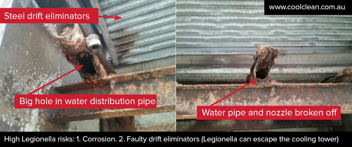 Corroded water distribution Coolclean